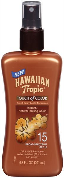 Hawaiian Tropic Touch Of Color Tinted Spray Sunscreen Spf15