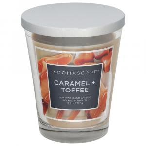 Aromascape Caramel + Toffee Soy Wax Blend Candle