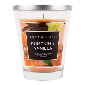 Aromascape Pumpkin + Vanilla Soy Wax Blend Candle