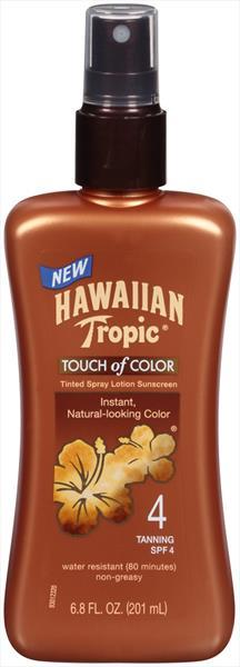 Hawaiian Tropic Touch Of Color Tinted Spray Sunscreen Spf4