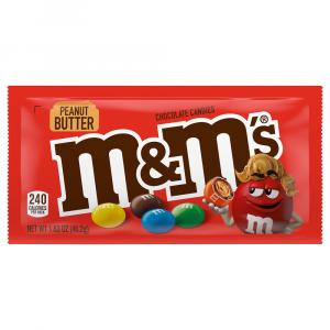 M&M's Peanut Butter Single Size Chocolate Candies