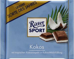 Ritter Sport Kokos Milk Chocolate with Coconut Filling