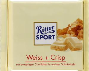 Ritter Sport Weiss + Crisp White Chocolate