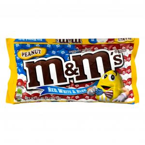 M&m's Peanut Red, White & Blue Chocolate Candies