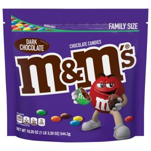 M&M's Dark Chocolate Family Size
