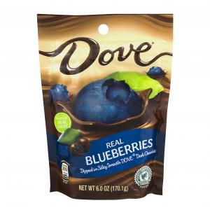 Dove Dark Chocolate With Whole Blueberries Stand Up Pouch