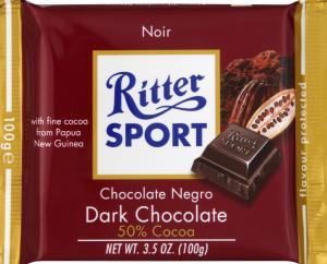 Ritter Sport Halbbitter Bitter Chocolate 50% Cocoa