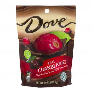 Dove Dark Chocolate With Whole Cranberries Stand Up Pouch