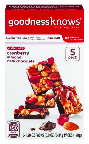 Goodness Knows Cranberry Almond Dark Chocolate Multi Pack