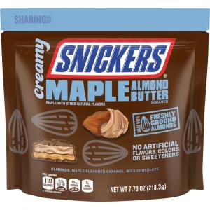 Snickers Creamy Maple Almond Butter Squares