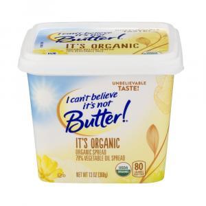 I Can't Believe It's Not Butter It's Organic Spread