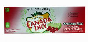 Canada Dry Cranberry Lime Seltzer Water