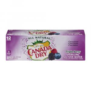 Canada Dry Triple Berry Sparkling Seltzer Water