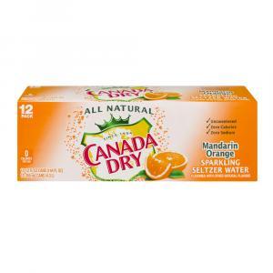 Canada Dry Mandarin Orange Seltzer Water