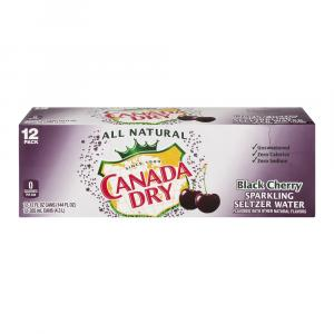 Canada Dry Black Cherry Seltzer Water