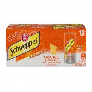 Schweppes Slim Can Orange Seltzer Water
