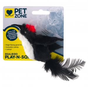 Pet Zone Real Bird Cat Toy