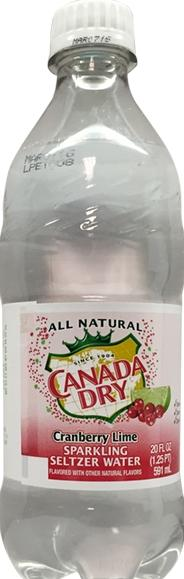 Canada Dry Cranberry Lime Sparkling Water