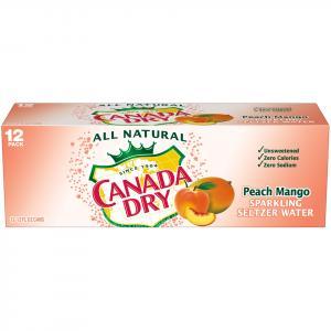 Canada Dry Peach Mango Seltzer Water