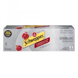 Schweppes Pomegranate Sparkling Seltzer Water