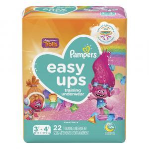 Pampers Easyups Girls 3T-4T Training Underwear