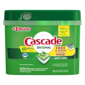 Cascade Original ActionPacs 60+4 Free Platinum ActionPacs