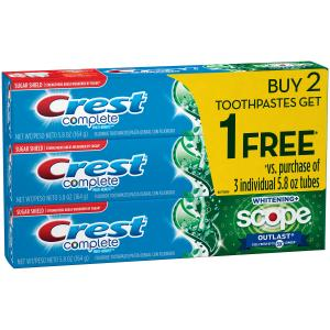 Crest Complete Whitening + Scope Outlast Toothpaste