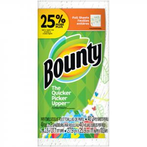 Bounty Full Sheets Prints Large Roll Paper Towel