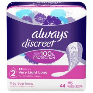 Always Discreet Liners Very Light Long Length