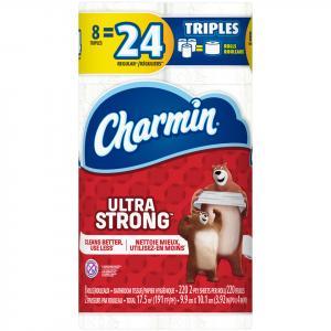 Charmin Ultra Strong Triple Roll Bathroom Tissue