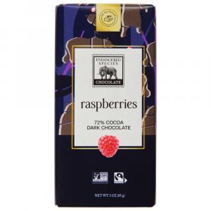 Endangered Species Grizzly Dark Raspberry Chocolate Bar