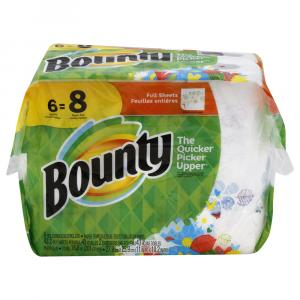 Bounty Prints Full Sheet Big Roll Paper Towels