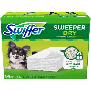 Swiffer Dry Cloth Refill Unscented For Pets