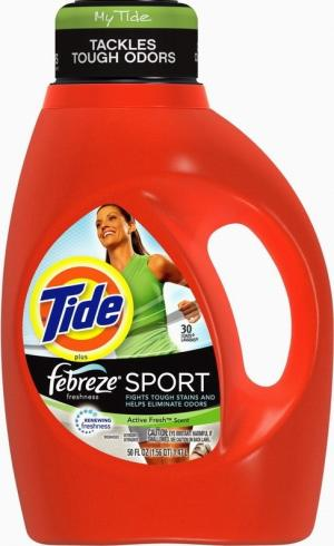 Tide 2x Sport Active Fresh Laundry Detergent