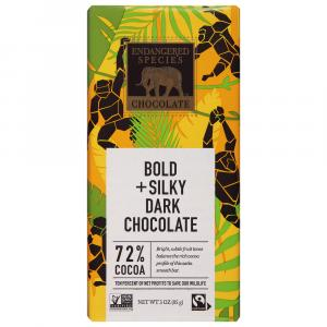 Endangered Species Chimp Smooth Dark Chocolate Bar