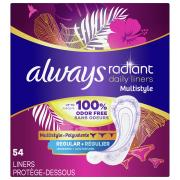 Always Radiant Regular Daily Liners 1X
