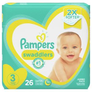 Pampers Size 3 Swaddlers Jumbo Pack