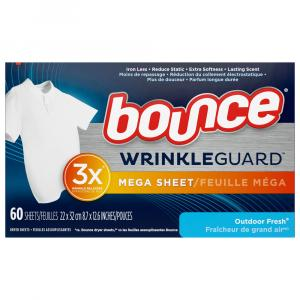 Bounce Dryer Sheets Wrinkle Guard Outdoor Fresh
