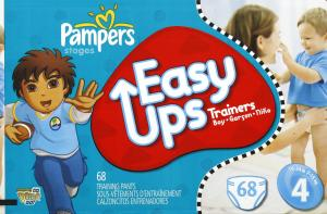Pampers Easy Ups Boy's Training Pants Size 4