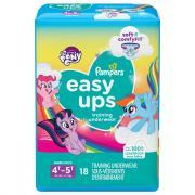 Pampers Easyups Girls 4T-5T Training Underwear