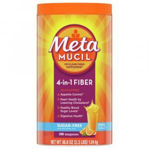 Metamucil MultiHealth Fiber Sugar Free Orange Smooth