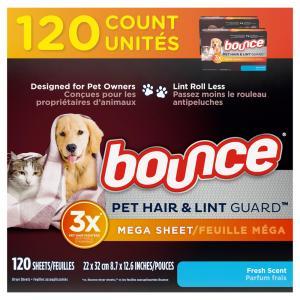 Bounce Pet Fresh Fabric Softener Sheets