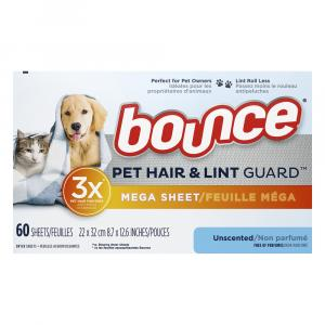Bounce Pet Hair & Lint Guard Mega Sheet Unscented