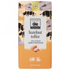 Endangered Species Rhino Dark Chocolate Hazelnut Toffee