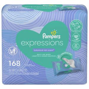 Pampers Expressions Botanical Rain Scent Baby Wipes