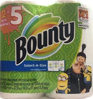 Bounty Huge Roll Select-a-size Minion Print Paper Towels
