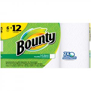 Bounty White Double Roll Paper Towel