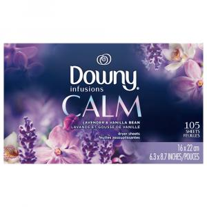 Downy Infusions Calm Lavender & Vanilla Dryer Sheets