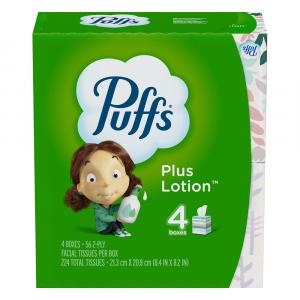 Puffs Plus Lotion White 2-Ply Facial Tissues