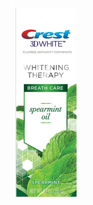 Crest 3D White Whitening Therapy Spearmint Oil Toothpaste